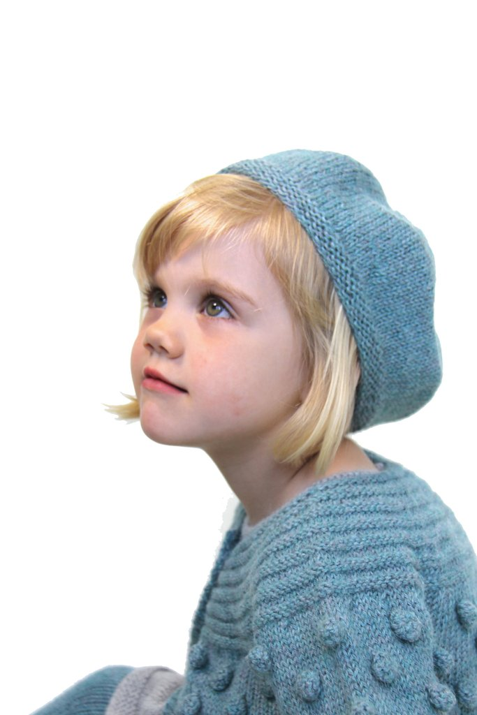 801d2b7b70462 Girl Knitted Beret Turquoise - Zilty Wool - High quality baby products